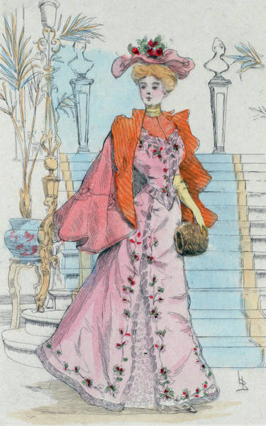 Wall Art - Drawing - 1898 Paris France Fashion Drawing by Movie Poster Prints
