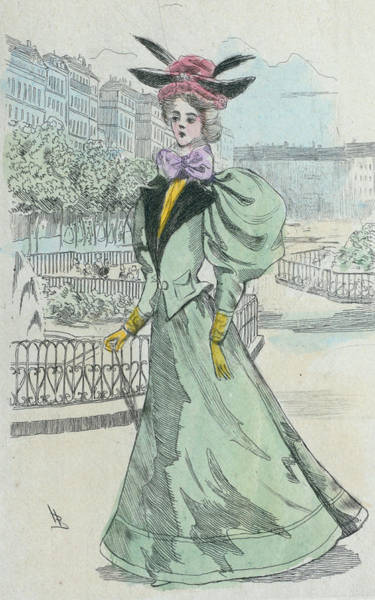Wall Art - Drawing - 1899 Paris France Fashion Drawing by Movie Poster Prints
