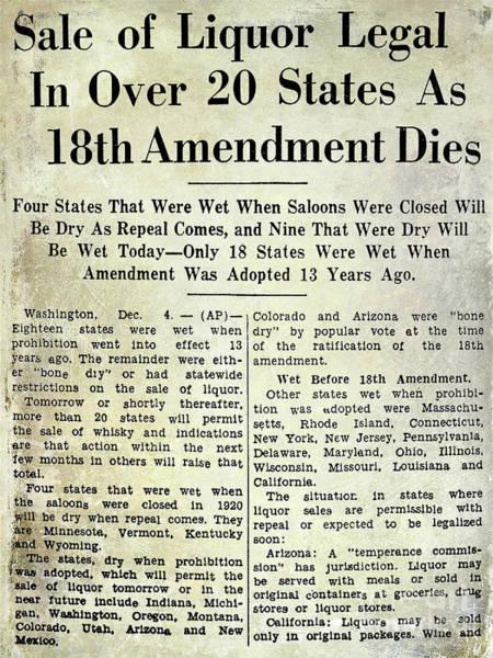 Flapper Photograph - 18th Amendment Article by Jon Neidert