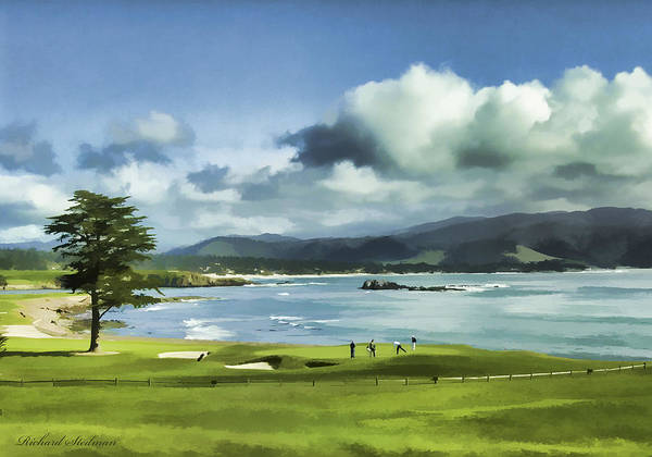 Digital Art - 18th Hole Pebble Beach 2 by Rich Stedman