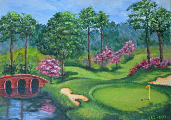 Sand Creek Painting - 18th Hole by Theresa Cangelosi