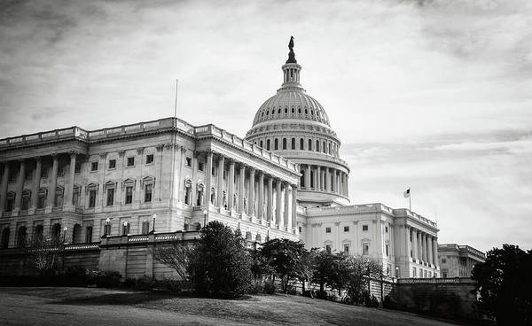 Photograph - Capitol Hill Building In Washington Dc by Brandon Bourdages
