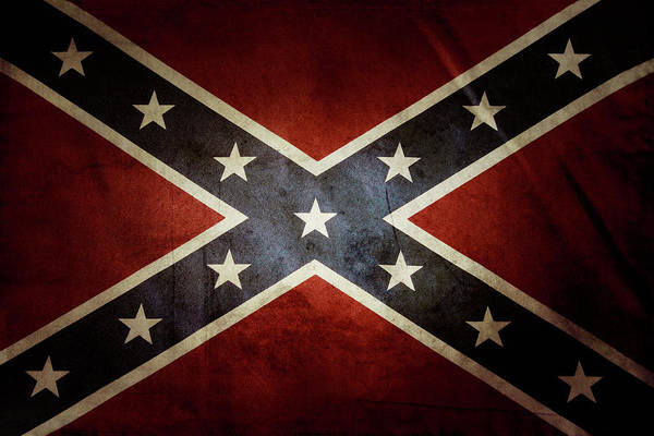 Wall Art - Photograph - Confederate Flag 12 by Les Cunliffe