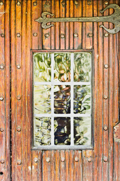 Frosted Glass Photograph - Old Door by Tom Gowanlock