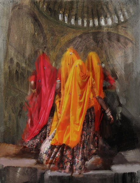 Wall Art - Painting - 19 Pakistan Folk B by Maryam Mughal