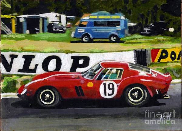 Le Mans 24 Painting - 19 Red by H M