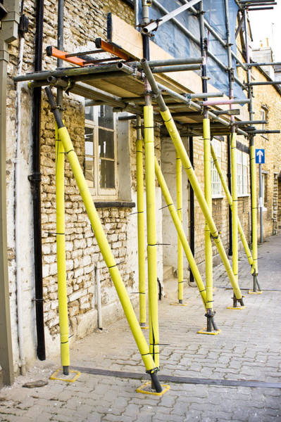 Housing Project Photograph - Scaffolding  by Tom Gowanlock