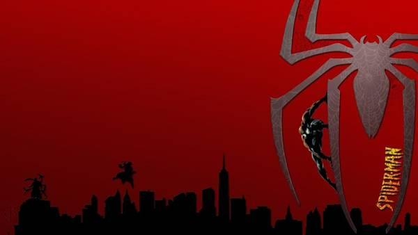 Skyline Digital Art - Spider-man by Super Lovely
