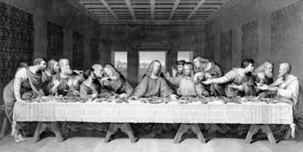 Jesus Drawing - The Last Supper by Leonardo Da Vinci