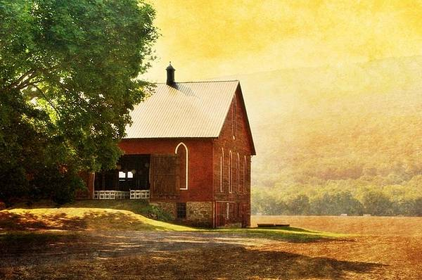 Lock Haven Wall Art - Photograph - 1900 Barn On River Road by Stephanie Calhoun