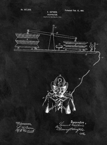 Drawing - 1901 Firefighter's Helmet by Dan Sproul