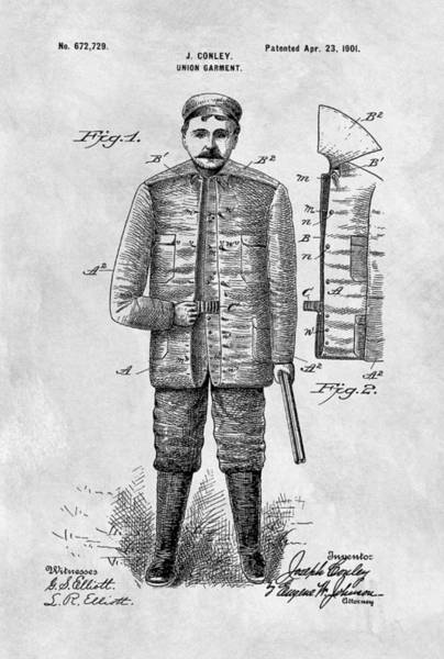 Target Drawing - 1901 Hunting Jacket  by Dan Sproul