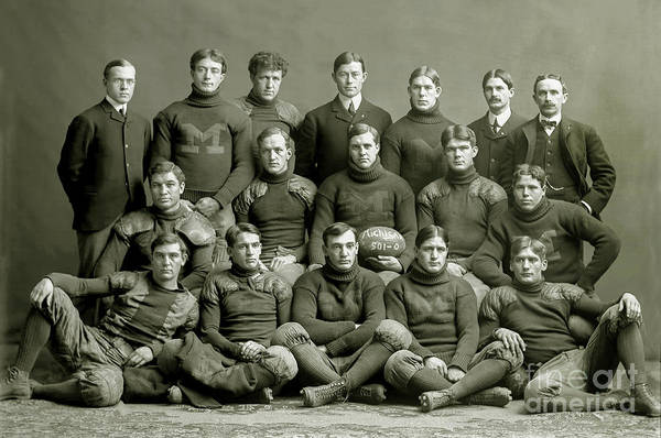 1933 Photograph - 1901 Michigan Wolverines Football Team by Jon Neidert
