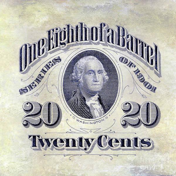 Wall Art - Photograph - 1901 One Eighth Beer Barrel Tax Stamp by Jon Neidert