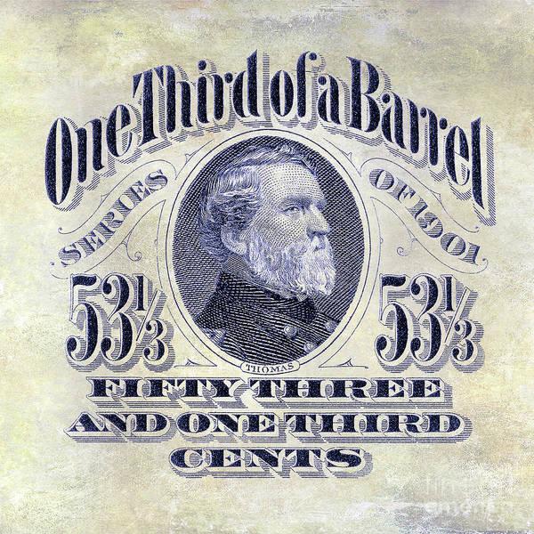 Wall Art - Photograph - 1901 One Third Beer Barrel Tax Stamp by Jon Neidert