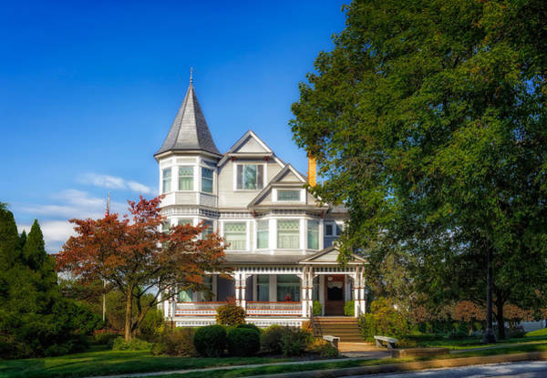 Queen Anne Style Photograph - 1902 L.h. Brightman House - 1 by Frank J Benz