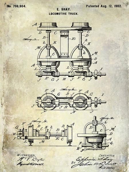Rr Photograph - 1902 Locomotive Truck Patent  by Jon Neidert