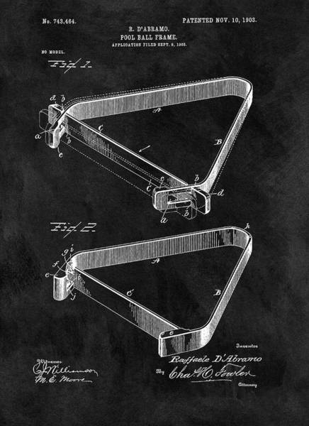 Drawing - 1903 Billiards Frame Patent by Dan Sproul