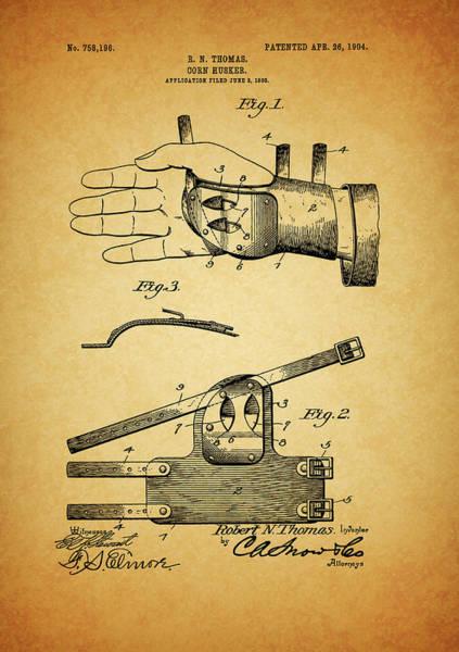 Wall Art - Mixed Media - 1904 Corn Husker Patent by Dan Sproul