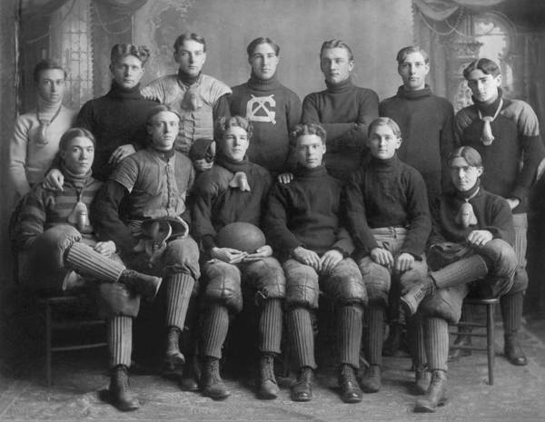 Photograph - 1904 Football Team by Underwood Archives