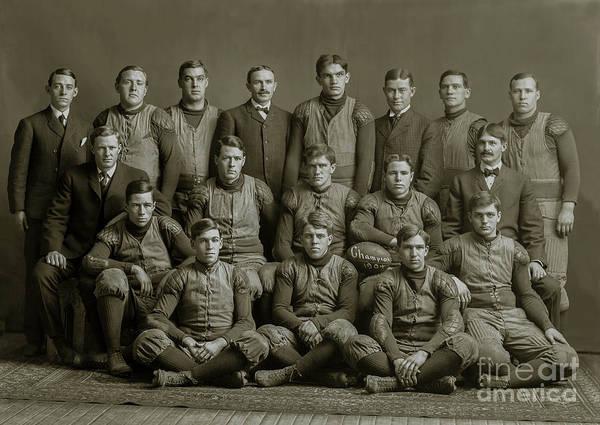 Ohio State Football Photograph - 1904 Michigan Champion Football Team  by Jon Neidert