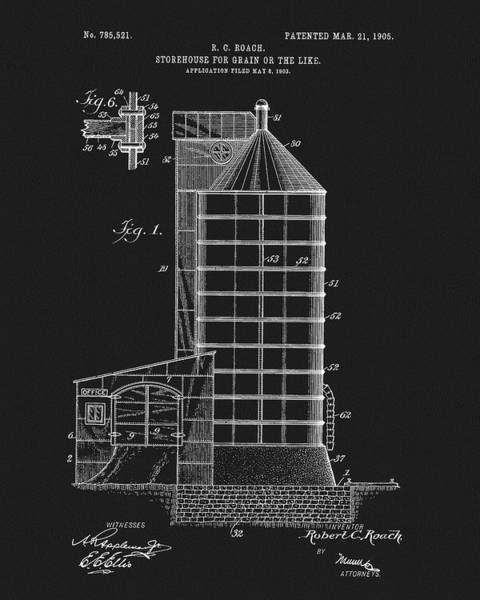 Mixed Media - 1905 Grain Silo Patent by Dan Sproul