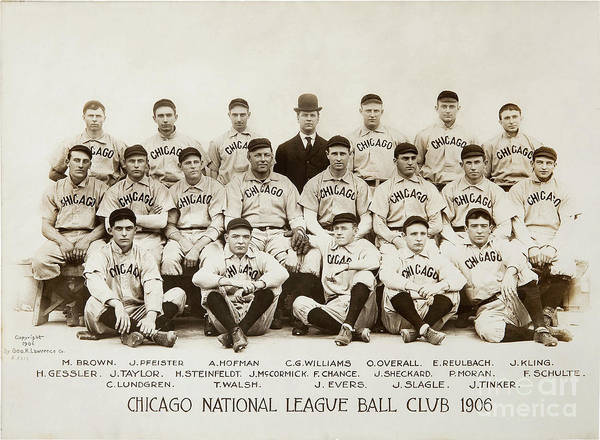 Wall Art - Photograph - 1906 Chicago Cubs by Jon Neidert