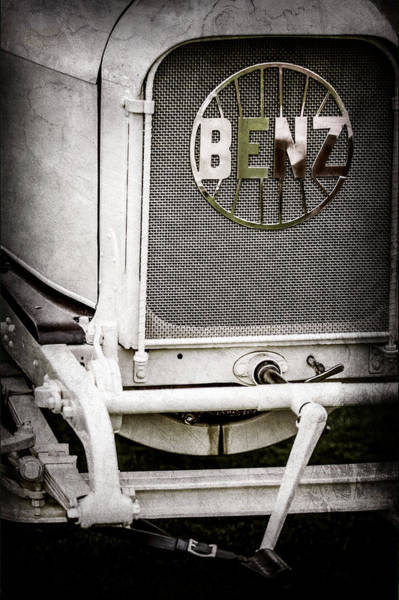 Wall Art - Photograph - 1908 Benz Prince Heinrich Two Seat Race Car Grille Emblem -1696ac by Jill Reger