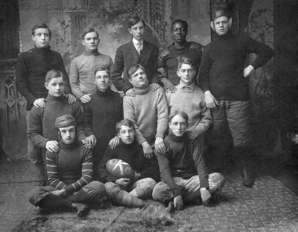 Photograph - 1908 Football Team by Underwood Archives