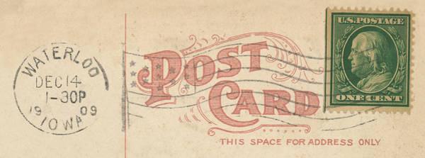 Postcard Wall Art - Mixed Media - 1909 Postcard by Greg Joens