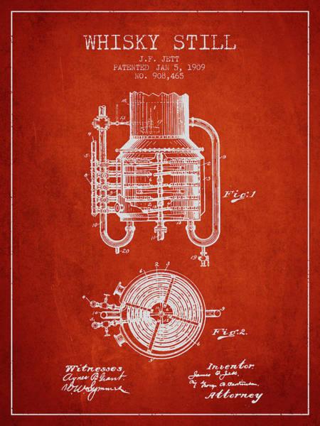 1909 Whisky Still Patent Fb78_vr Art Print