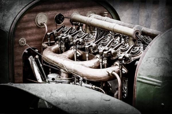 Wall Art - Photograph - 1910 Benz 22-80 Prinz Heinrich Renn Wagen Engine -1702ac by Jill Reger