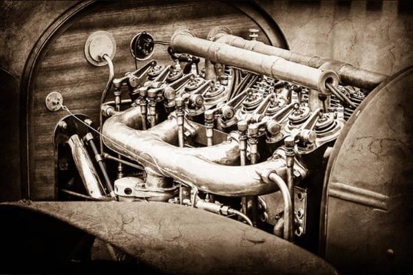 Wall Art - Photograph - 1910 Benz 22-80 Prinz Heinrich Renn Wagen Engine -1702s by Jill Reger