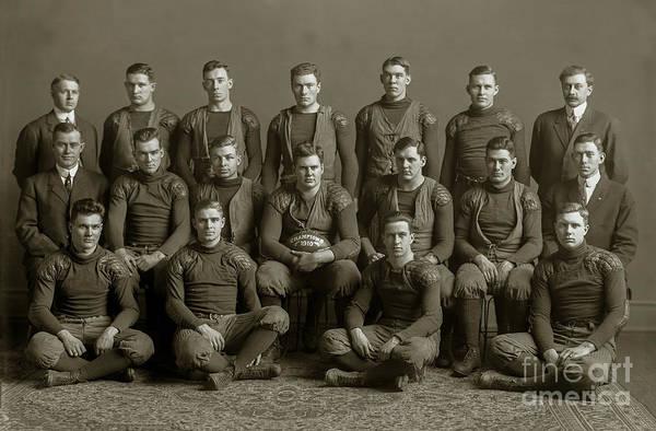 Ohio State Football Photograph - 1910 Michigan Wolverines Football Team  by Jon Neidert