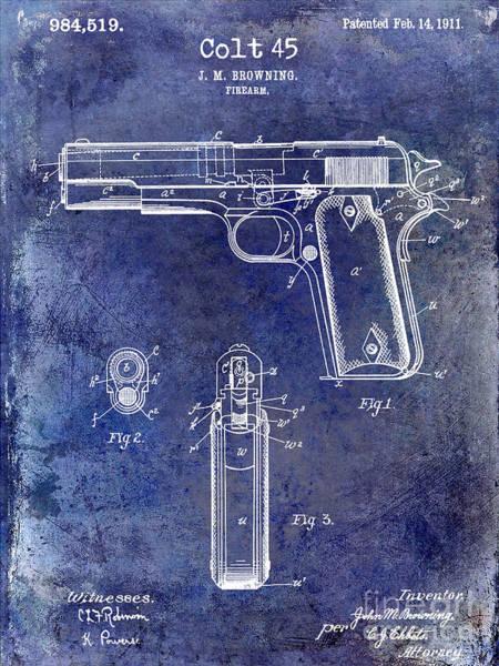 Wesson Photograph - 1911 Colt 45 Firearm Patent by Jon Neidert