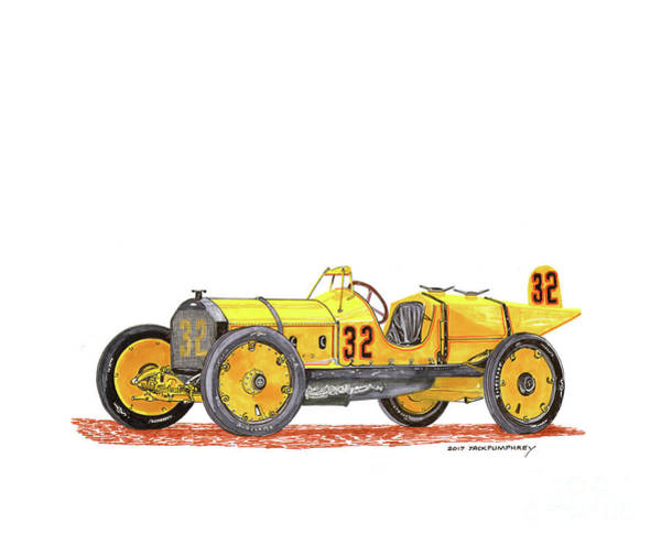 Wall Art - Painting - 1911 Marmon Wasp Indy Winner by Jack Pumphrey