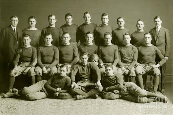 1912 Photograph - 1912 Michigan Wolverines Football Team by Jon Neidert