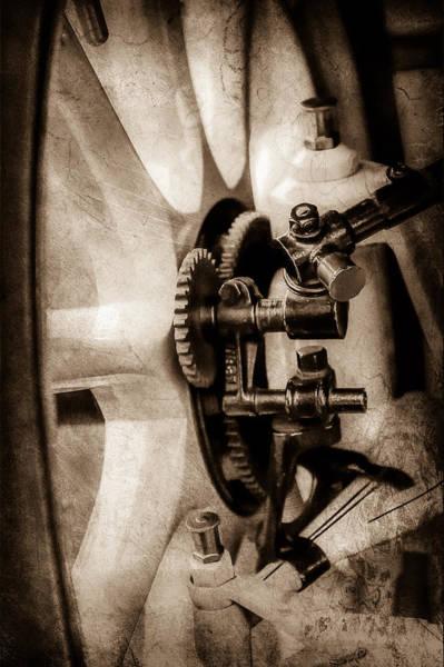 Wall Art - Photograph - 1912 Packard 30 7 Passenger Touring Wheel -0026s by Jill Reger