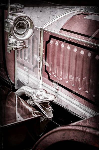 Photograph - 1912 Rolls-royce Silver Ghost Rothchild Et Fils Style Limousine Snake Horn -0711ac by Jill Reger