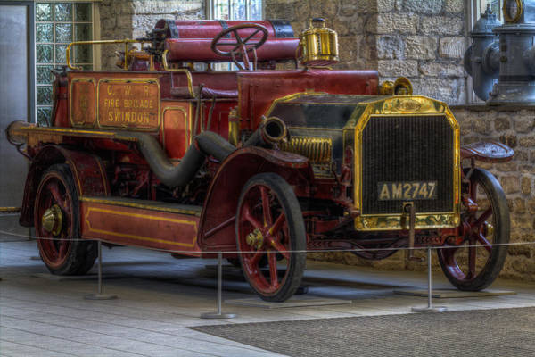 Photograph - 1912 Vintage Dennis Fire Engine by Clare Bambers