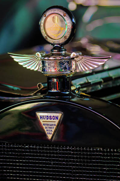 Photograph - 1913 Hudson Model 37 Torpedo Tourer Hood Ornament -0753c by Jill Reger