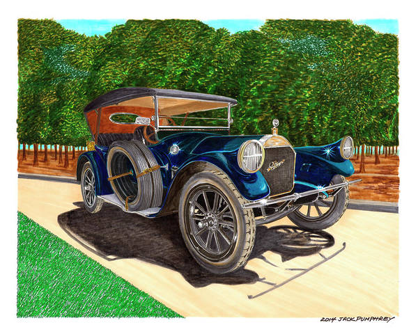 Become One Wall Art - Painting - 1913 Pierce Arrow by Jack Pumphrey