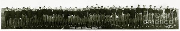 Notre Dame University Photograph - 1914 Notre Dame Football Team Photo by Jon Neidert