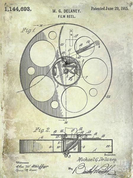 1915 Photograph - 1915 Film Reel Patent by Jon Neidert