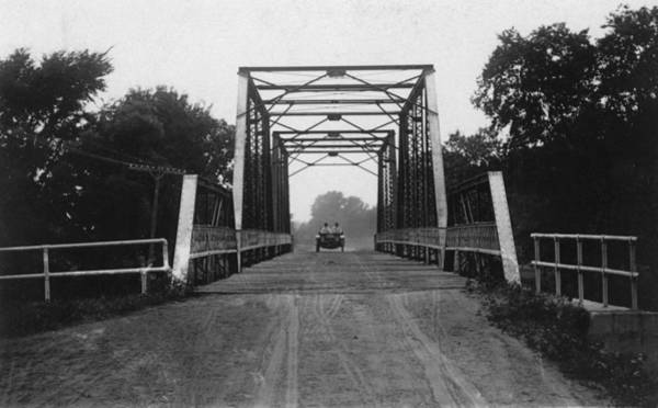 Postcard Photograph - 1915 Hudson Road Bridge by Greg Joens