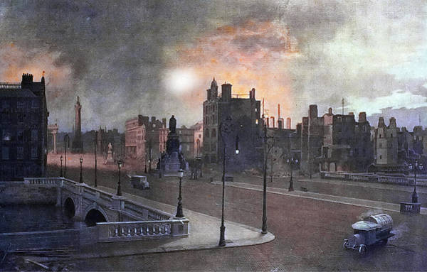 Painting - 1916 The Aftermath Of The Rising by Val Byrne