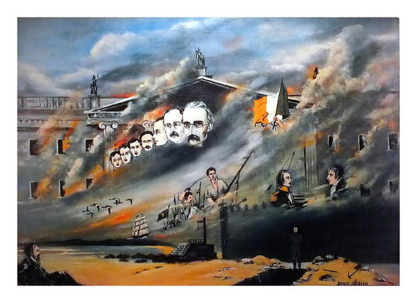 Painting - 1916 The Last Rebellion by Val Byrne