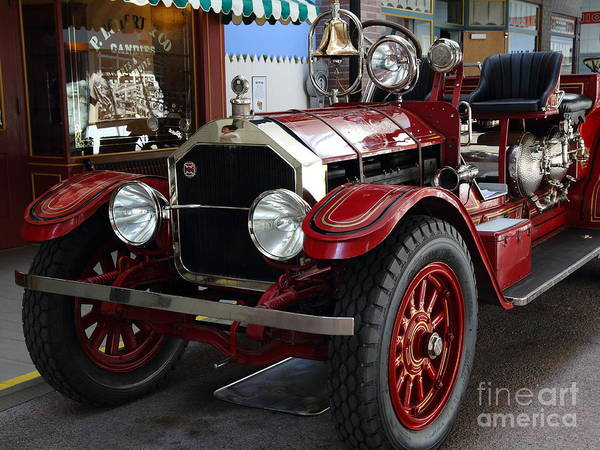 Photograph - 1917 American La France Type 12 Fire Engine by Wingsdomain Art and Photography