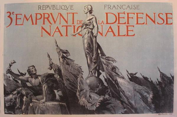Francaise Painting - 1917 Original French Propaganda Poster, 3e Emprunt De La Defense Nationale By Lelong by Lelong