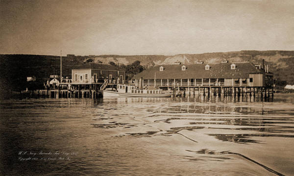 Photograph - 1917 U. S. Navy Barracks Point Loma World War I by Connie Fox
